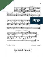 Canção Perdida Score PDF