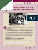 8 - Características de La Lengua Literaia. Los Géneros Literarios