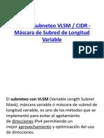 VLSM y CIDR