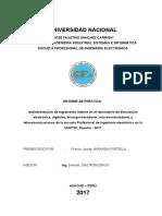 Modelo de informe da practicas pre profesionales en la UNJFSC