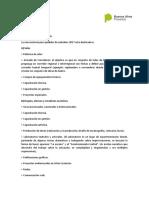 Requisitos para la solicitud de Subsidios - Información Adicional
