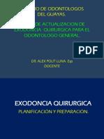 1. Colegio de Odontologos. Curso de Actualizacion de Exodoncia .