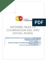 Modelo de Informe Culminación Año Rural Aprobación Snpss Mayra Rivas