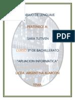 Simulador Lingüístico -Sara Tutiven