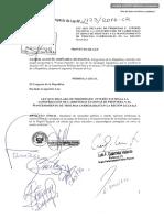 Proyecto de Ley Nº 1123/2016-CR