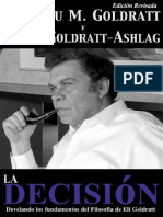 La Decisi n Develando Los Fundamentos Del Filosof a de Eli Goldratt Goldratt Collection n 5 Spanish Edition