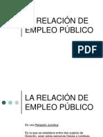 La Relacion de Empleo Publico