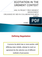 Negotiation in the Procurement Context