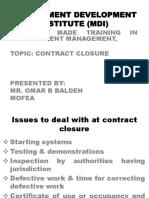 Contract Closure