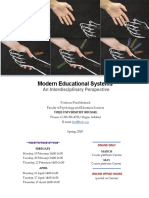 Modern Educational Systems, Spring 2018