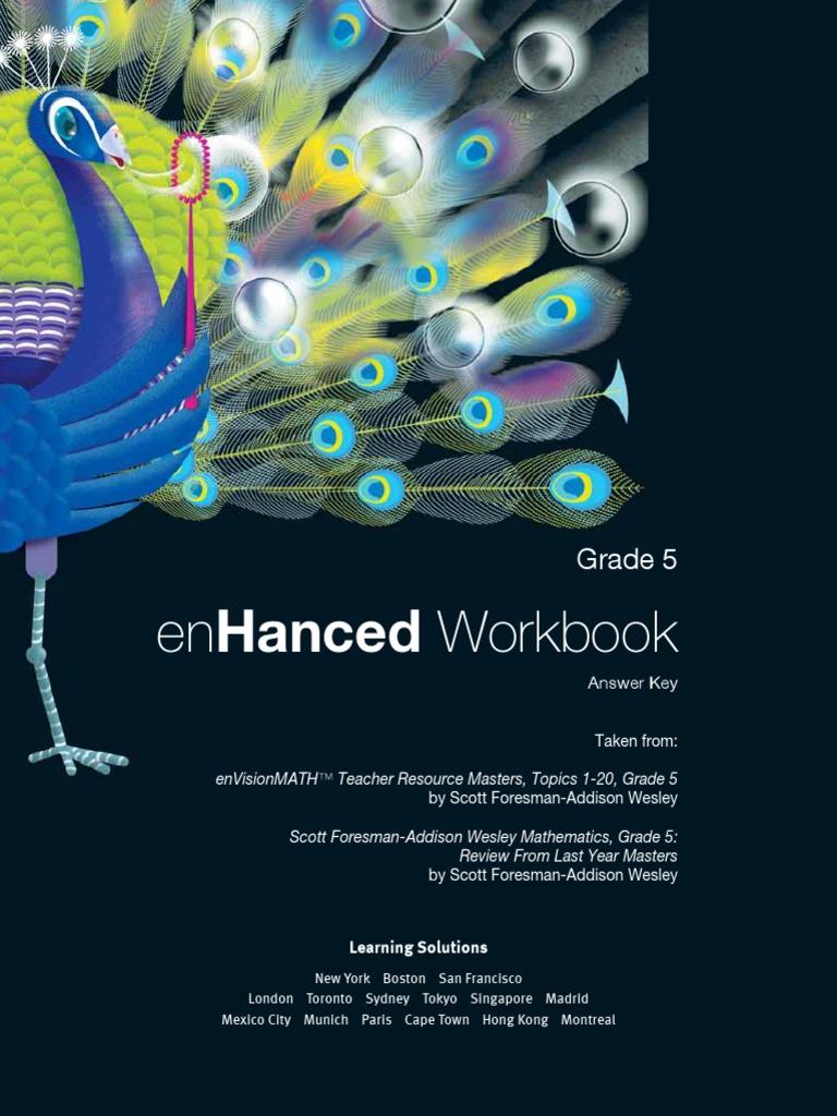 EnVisionMATH Grade 5 Workbook Answer | Fraction (Mathematics ...