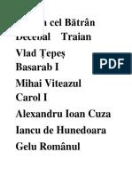 Mircea cel Bătrân    Decebal    Traian.docx