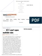 IE11 Won't Open Multible Tabs - [Solved] - Windows 7