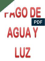 LUZ Y AGUA