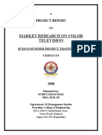 14876574 Market Research on Videocon Color Television