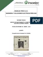INFORME TECNICO N° 002 - 2018 - INSOELEC PERU S.A.C. - ACEROS AREQUIPA P...