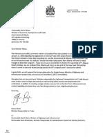Letter to Minister Bilous January 22 2018