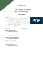 International Business Assignment 1 1