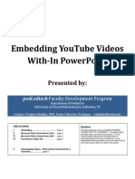 Embedding Youtube Videos with-inn power point