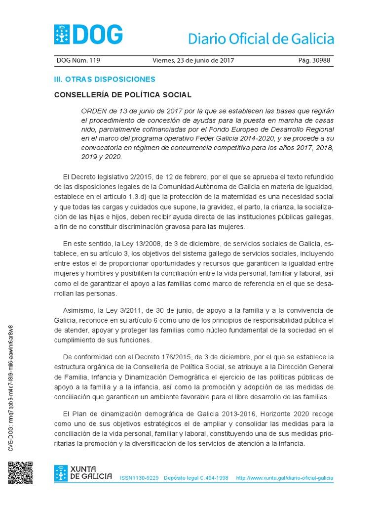 Calendario Laboral 2020 Galicia Doga.Dog Ayudas Casa Nido
