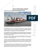 Cooperation agreement for IHC backhoe dredgers  between IHC Merwede and Liebherr-France