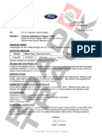 Bulletin to Ford dealership service departments