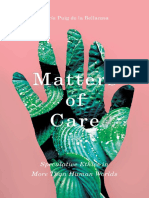 Maria Puig de La Bellacasa Matters of Care Speculative Ethics in More Than Human Worlds 1