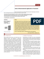 A Review on the Exploration of Nanomaterials Application in Pavement Engineering
