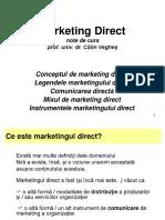 Curs 1-Conceptul de Marketing Direct