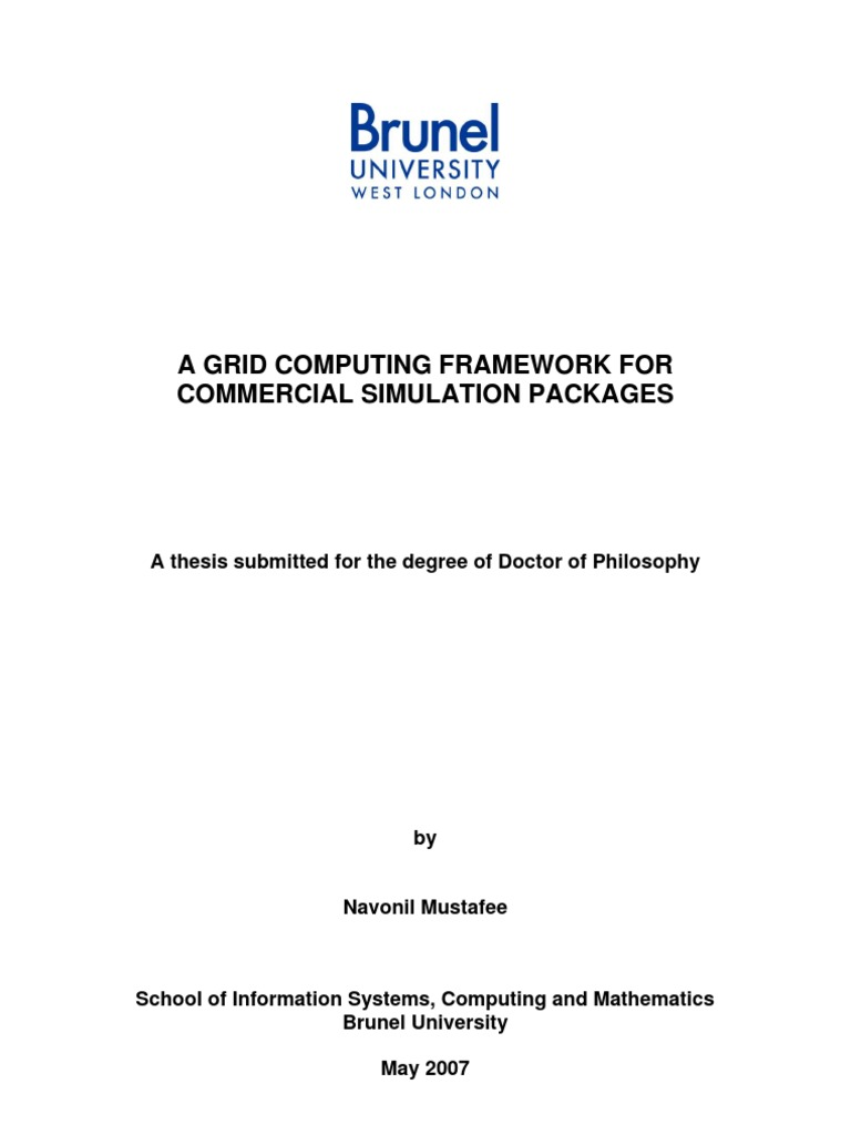 Distributed computing thesis
