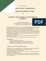 Analogías - Aspectos Lógicos, Epistemológicos y Filosóficos -Jornadas - Workshop