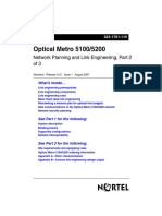 Optical Metro 5100:5200 Network Planning and Link Engineering, Part 2 of 3
