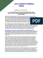 DelChesco United for Safety Pipeline Press Release 1.22.2018