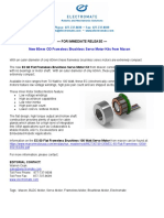 New 60mm OD Frameless Brushless Servo Motor Kits From Maxon Product Press Release