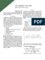 pa audio amplifier lab report