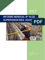 Informe Agosto de valorización de obra