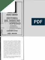 Grossi - Historia Del Derecho de Propiedad