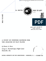 A STUDY OF STIFFNESS MATRICES FOR THE ANALYSIS OF FLAT PLATES