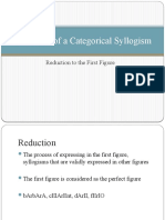 Reduction of a Categorical Syllogism