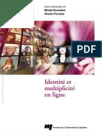 Bonenfant, Maude_ Perraton, Charles-Identite Et Multiplicite en Ligne