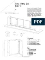 How to Construct a Folding Gate
