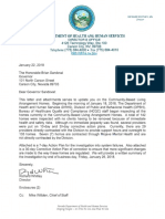 Letter from HHS Director Richard Whitley to Gov. Brian Sandoval