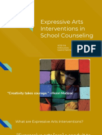 expressive arts interventions in school counseling