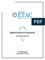 Debate Actual en La Educación