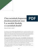 AUBERT, Eduardo Henrik. Uma Sociedade Fragmentada e Fundamentalmente Uma - La Société Féodale (Compte Rendu)
