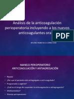 Manejo Perioperatorio de La Anticoagulacion y Antiagregacion
