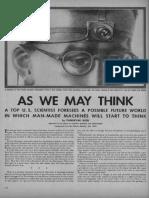 Bush - As We May Think (Life Magazine 9-10-1945)