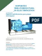 Soportes Antivibratorios Para Grupos Electrógenos