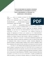 Contrato de Fideicomiso de Garantia e Inversion Apartamento