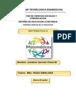 Tarea 1 Matematicas II Jonathan Cheza -Ibarra